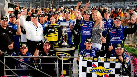 Photos: Twenty years of NASCAR winners at the Brickyard