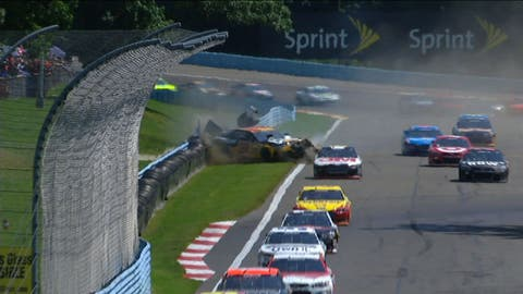Newman/McDowell wreck at The Glen