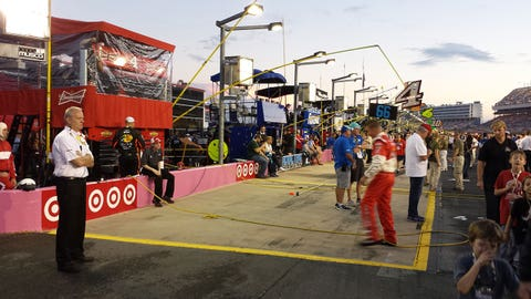 Sights & Sounds: Soggy Saturday night at Charlotte Motor Speedway