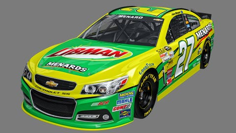Paul Menard's 2015 Sprint Cup paint schemes
