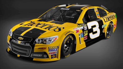Austin Dillon's 2015 Sprint Cup paint schemes