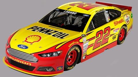Joey Logano's 2015 Sprint Cup paint schemes