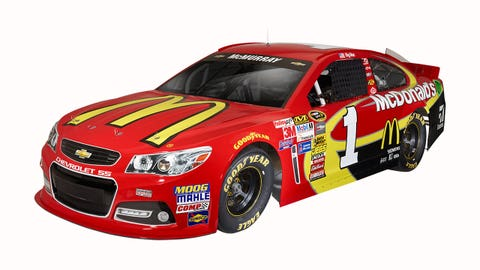 Jamie McMurray's 2015 Sprint Cup paint schemes