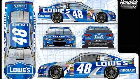 Jimmie Johnson's 2015 Sprint Cup paint schemes