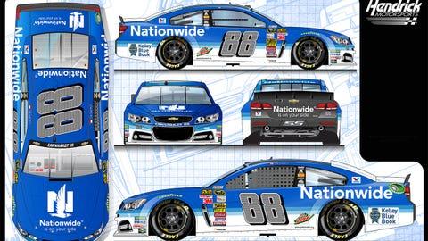 Dale Earnhardt Jr.'s 2015 Sprint Cup paint schemes