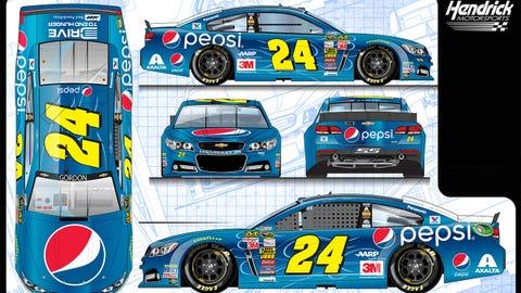 Jeff Gordon's 2015 Sprint Cup paint schemes