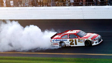 8. A kid in victory lane