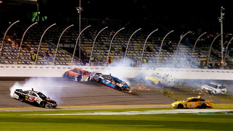 Photos: Wrecking and high drama in Thursday's Budweiser Duel