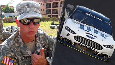 Army Cpl. Michael J. Anaya/No. 2 Team Penske Ford of Brad Keselowski