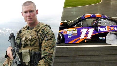 Marine 1st Lt. Michael E. Johnson/No. 11 Joe Gibbs Racing Toyota of Denny Hamlin