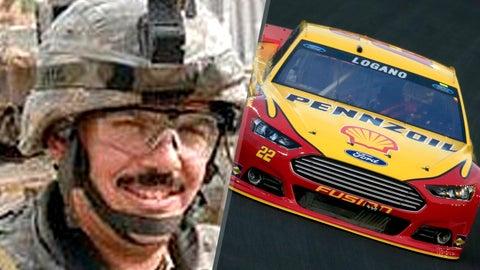 Army Cpl. Travis L. Patriquin/No. 22 Team Penske Ford of Joey Logano