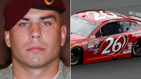 Army Sgt. Nicolas A. Mueller/No. 26 BK Racing Toyota of Jeb Burton