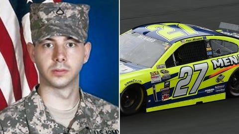 Army Spc. David T. Proctor/No. 27 Richard Childress Racing Chevrolet of Paul Menard