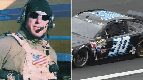 Navy Chief Petty Officer Jason Ray Workman/No. 30 car of Jeff Green