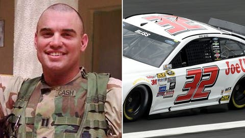 Army Capt. Christopher Cash/No. 32 car of Mike Bliss