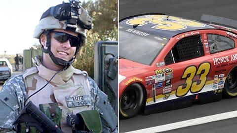 Army Cpl. George A. Lutz/No. 33 car of Alex Kennedy
