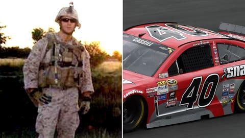 Marine Gunnery Sgt. Floyd E. Holley/No. 40 Hillman Racing Chevrolet of Landon Cassill