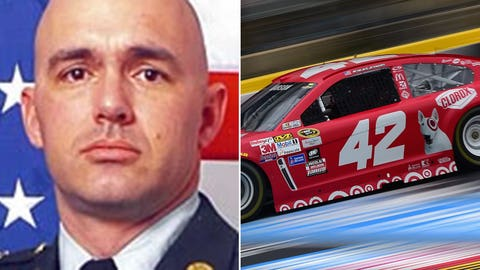 Army Staff Sgt. Mark A Stets Jr./No. 42 Chip Ganassi Racing with Felix Sabates Chevrolet of Kyle Larson