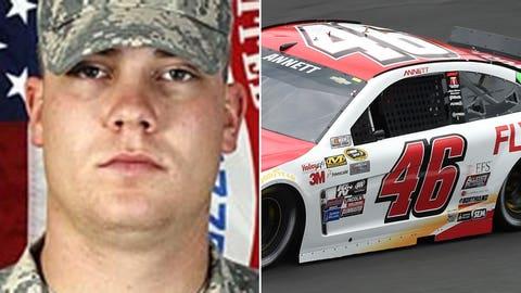 Army Cpl. Michael E. Thompson/No. 46 HScott Motorsports Chevrolet of Michael Annett