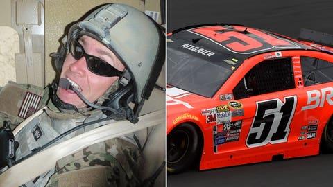 Air Force Technical Sgt. Adam K. Ginett/No. 51 HScott Motorsports Chevrolet of Justin Allgaier
