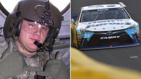 Army Sgt. Bryan Brewster/No. 55 Michael Waltrip Racing Toyota of David Ragan