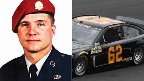 Air Force Technial Sgt. John Chapman/No. 62 car of Brendan Gaughan