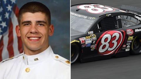 Army 1st Lt. Daniel B. Hyde/No. 83 BK Racing Toyota of Matt DiBenedetto