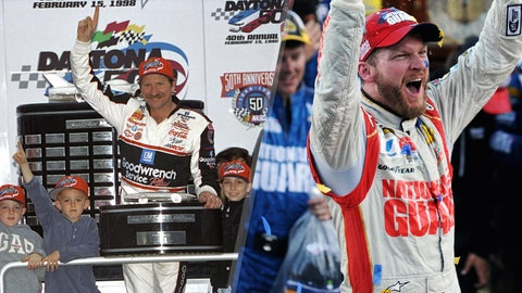 Dale Earnhardt and Dale Jr., 100 victories