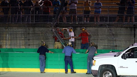 Ben Kennedy becomes second driver to hit fencing in a week