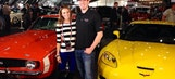 Kyle and Samantha Busch enjoy a super weekend full of football and classic cars