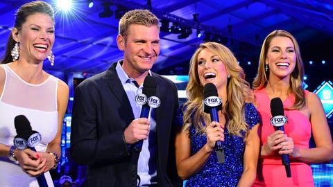 Jamie Little, Clint Bowyer, Molly McGrath and Jenny Taft