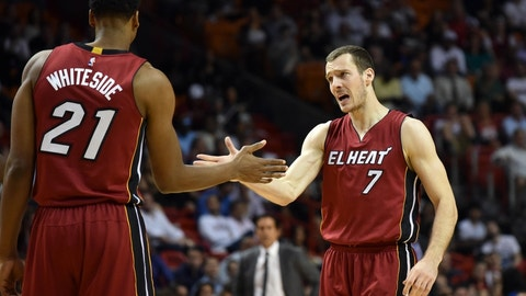 Miami Heat: Hassan Whiteside, Goran Dragic, James Johnson