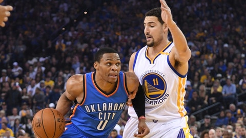 Get Klay Thompson into foul trouble