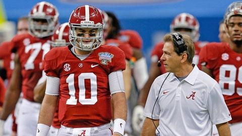 1. Alabama struggles to replace A.J. McCarron