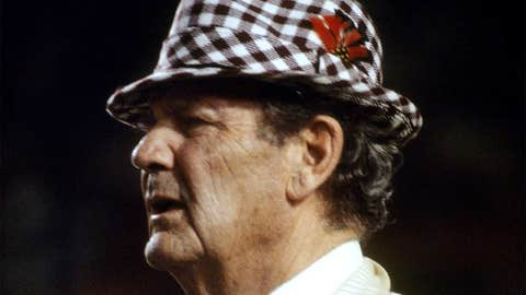 "4. Paul ""Bear"" Bryant, Alabama (25)"