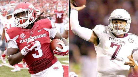 Arkansas vs. Texas A&M (Arlington), Saturday, 3:30 p.m. ET, CBS