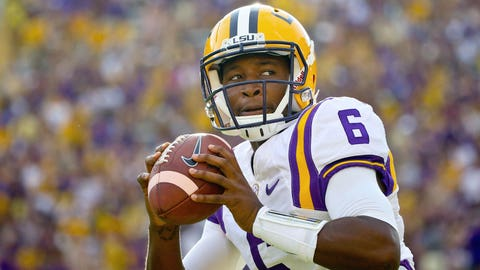 Former LSU QB Haris transferring to UNC