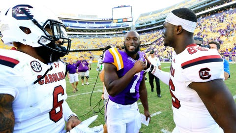 Fournette greets his guests