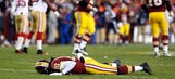 RG3 gets kicked where a guy doesn't want to get kicked during loss to 49ers