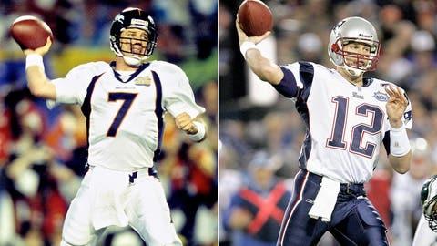 Most starts at quarterback — 5