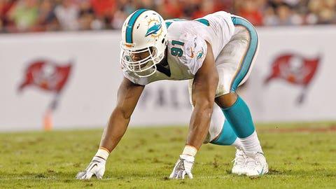 Falling: Miami Dolphins DE Cameron Wake