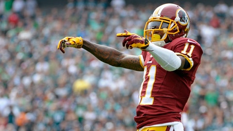 DeSean Jackson, WR, Redskins (shoulder): Questionable