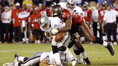 9: 2002 Oakland Raiders (Super Bowl 37 -- Tampa Bay 48, Oakland 21)