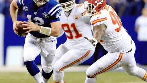 2013 season: Indianapolis 45, Kansas City 44