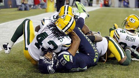 vs. Aaron Rodgers, Week 3, 2012: Seahawks 14, Packers 12
