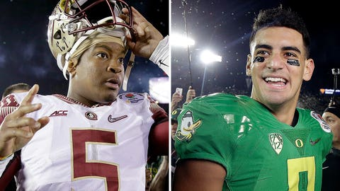 14. Who will be the first quarterback drafted?