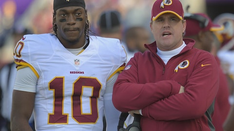Washington: How much more comfortable does QB RG3 look in his second season under head coach Jon Gruden?