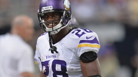 RB: Adrian Peterson, Vikings (30)