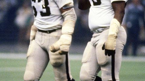 Gene Upshaw (1967–1981) and Art Shell (1968-1982): Oakland Raiders