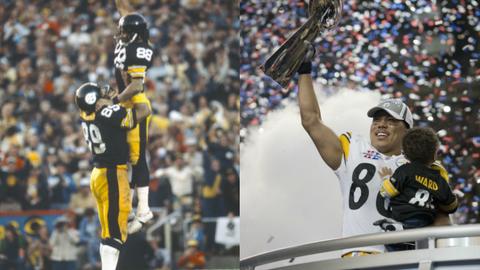 Lynn Swann (1974-1982) and Hines Ward (1998-2011): Pittsburgh Steelers